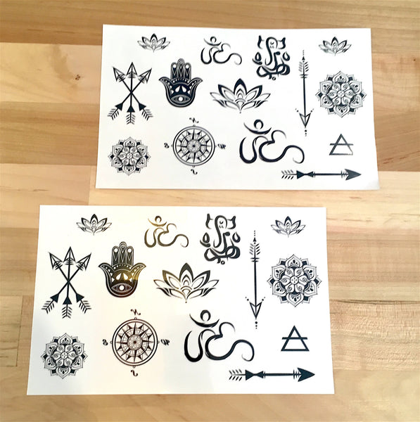 myTaT - Yoga Minis Temporary Tattoo Set