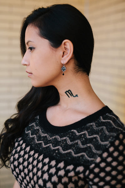 Scorpio Zodiac Temporary Tattoo