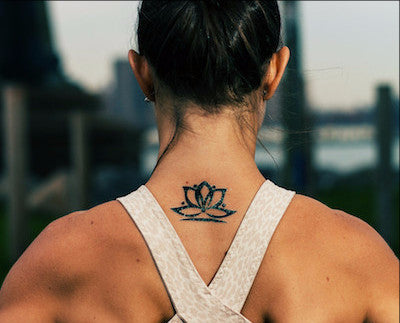 Simple Yoga Lotus Tattoo