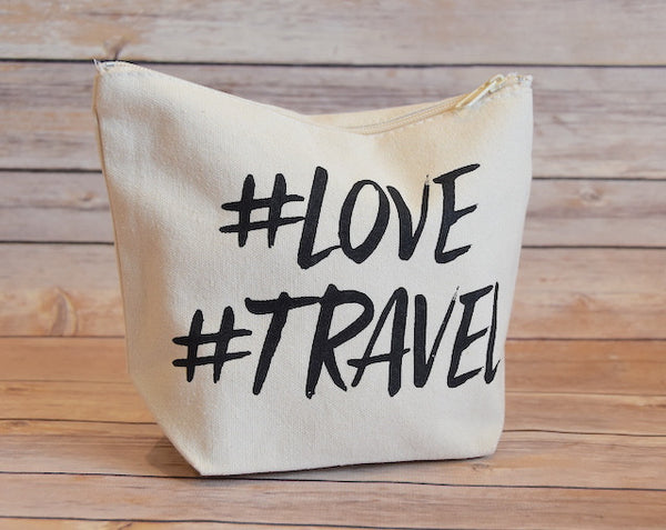 Love Travel Hashtag Pouch - Trailer Boutique