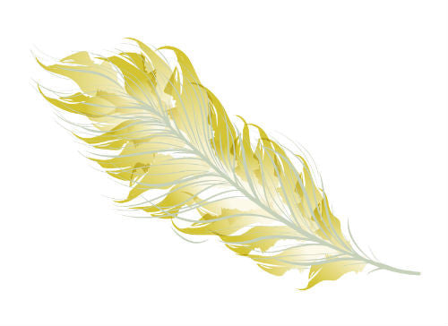 Metallic Feather Temporary Tattoo - MyTaT