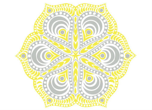 Metallic Mandala Temporary Tattoo