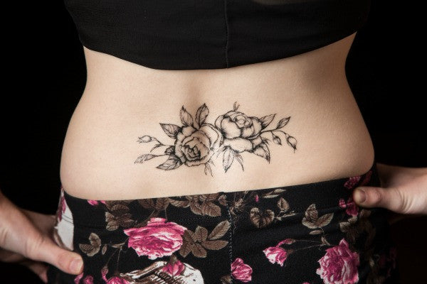 Black Roses Temporary Tattoo - MyTaT