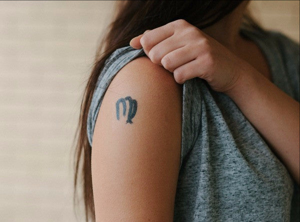 Virgo Zodiac Temporary Tattoo MyTaT