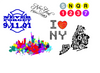 NYC Temporary Tattoo Set