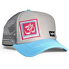 Big Truck Bright Blue Yoga Hat - myTaT