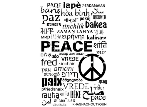 Peace in 50 Languages Tattoo Set