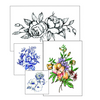 Bohemian Watercolor Flower Temporary Tattoos - Set of 8