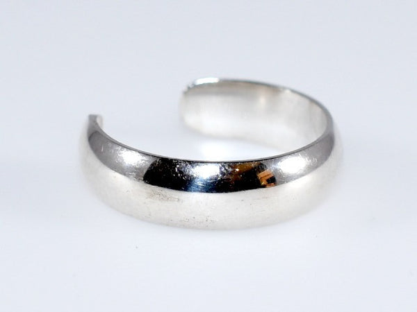 Adjustable Toe Ring - Wide Silver Band 5mm