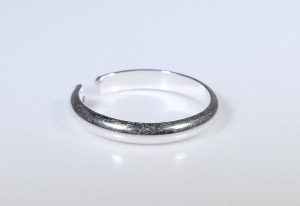 Adjustable Toe Ring - 3mm Silver