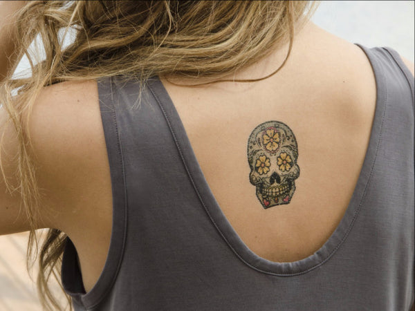 MyTaT Sugar Skull Temporary Tattoo