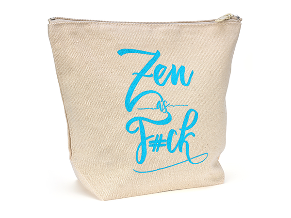 Canvas Zipper Makeup Bag - Zen as F#ck