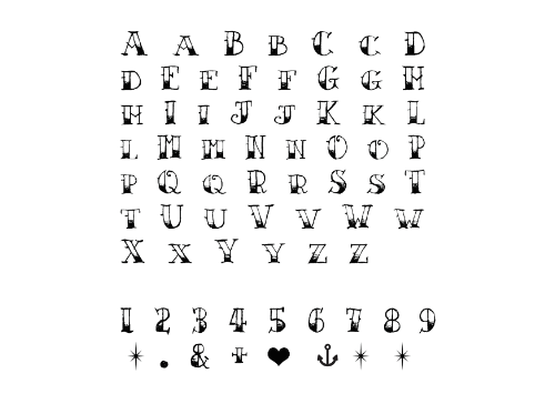 Alphabet and Numbers Temporary Tattoo
