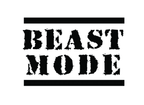 Beast Mode temporary tattoo