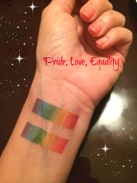Women's Gay Pride Temporary Tattoo Set