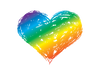 Rainbow heart temporary tattoo
