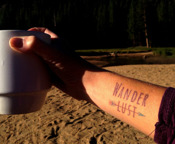 Wanderlust Temporary Tattoo