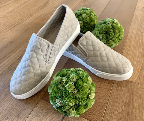 Grey Slip-On Tennis Shoe - Caroline's Boutique Indiana