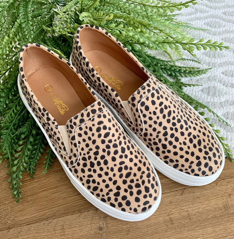 Leopard Slip-On Tennis Shoe - Caroline's Boutique Indiana