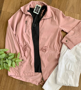 Two Pocket Twill Utility Jacket - Caroline's Boutique Indiana