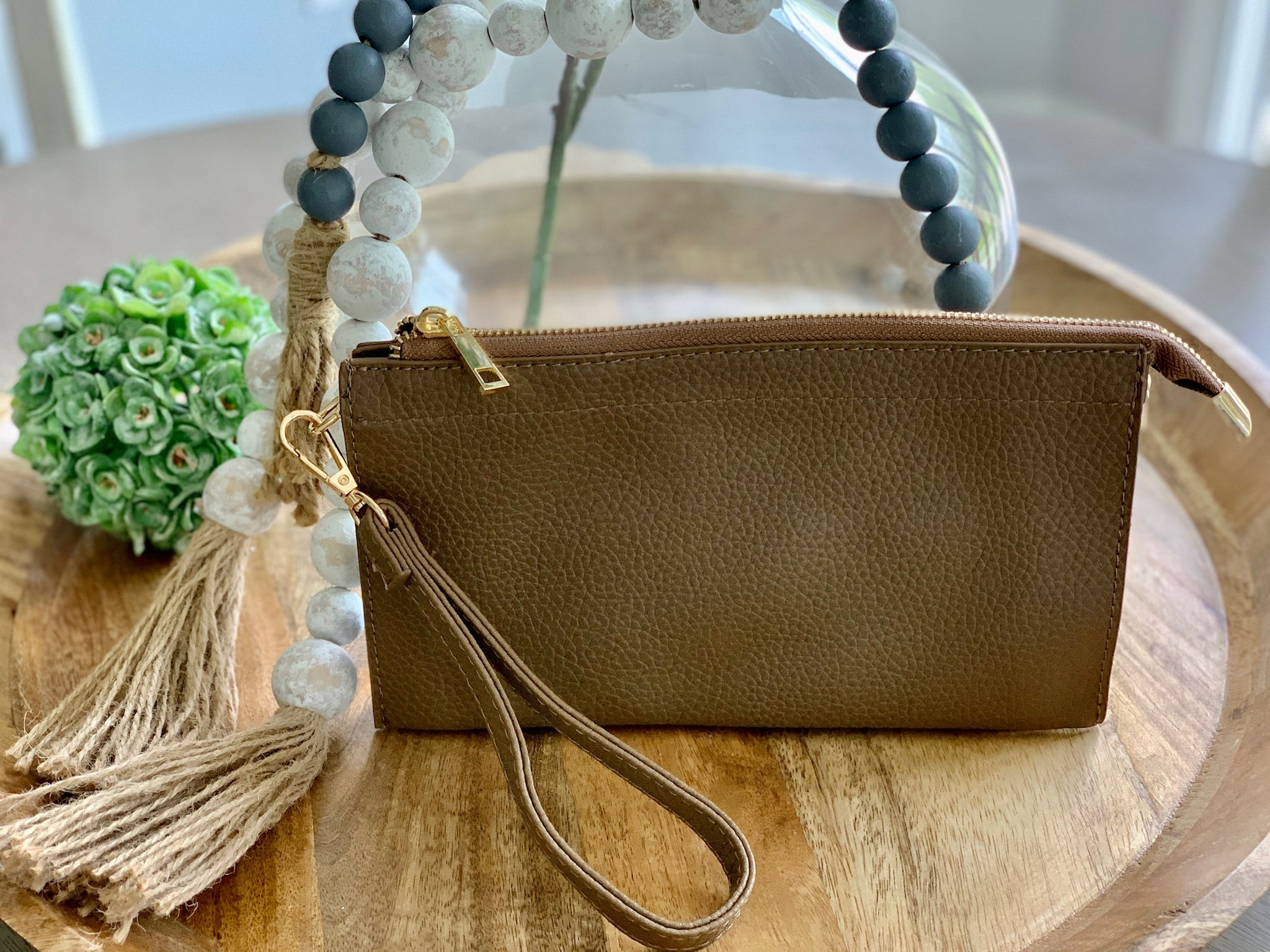 Rectangle Crossbody Brown - Caroline's Boutique Indiana