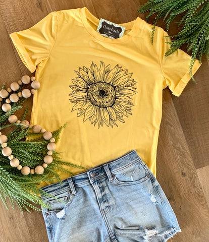 Yellow sunflower t-shirt