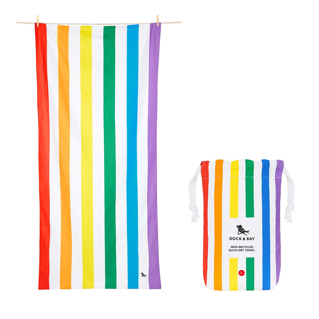 Dock & Bay Beach Towel Rainbow Skies L