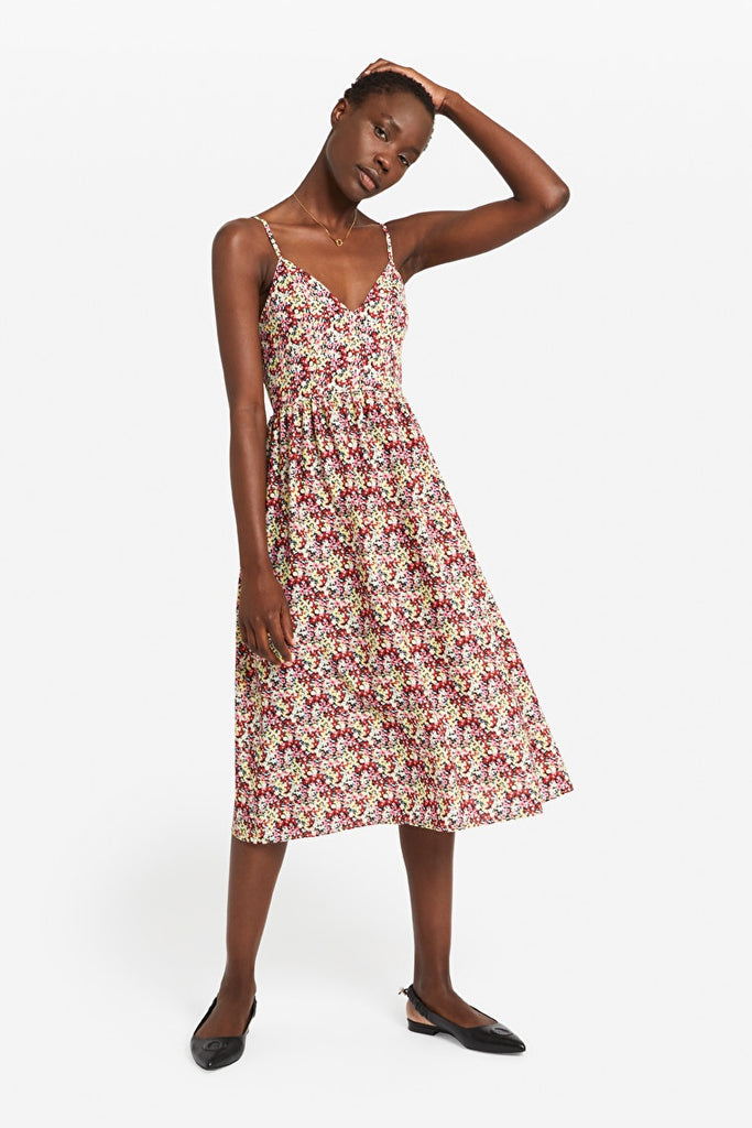 Otto D'Ame Patterned Midi Dress