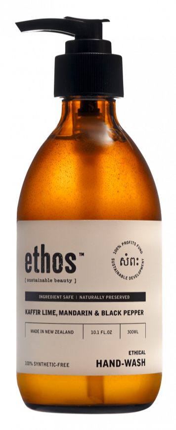 Ethos Hand Wash Kaffir Lime, Mandarin and Black Pepper