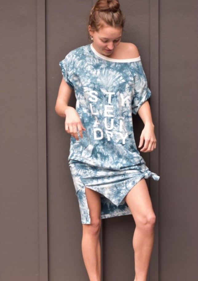 Style Laundry Beach T Shirt Dress Teal