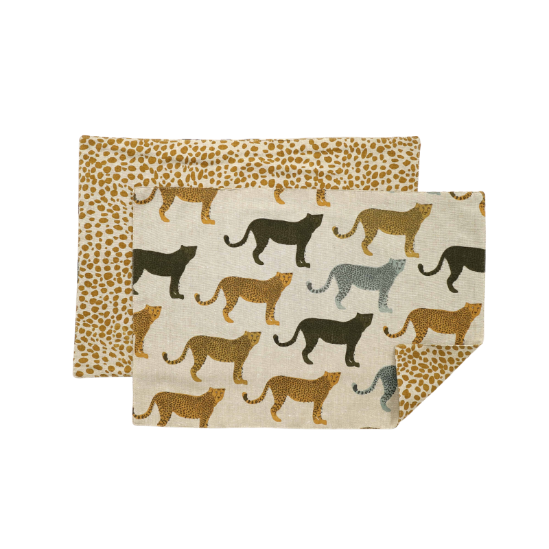 Raine + Humble Cheetahs Placemat set of 4
