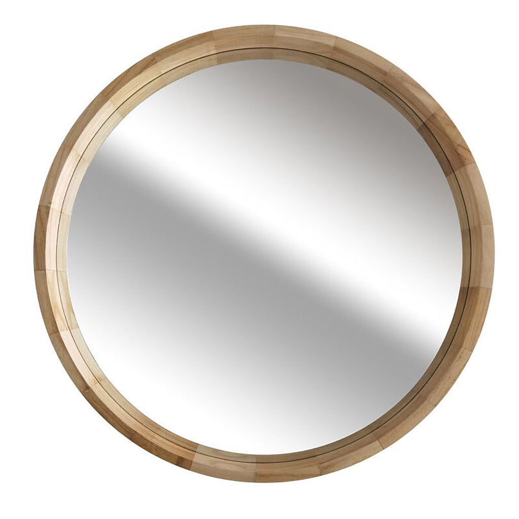 Ledge Round Wall Mirror Natural 77MM Diameter