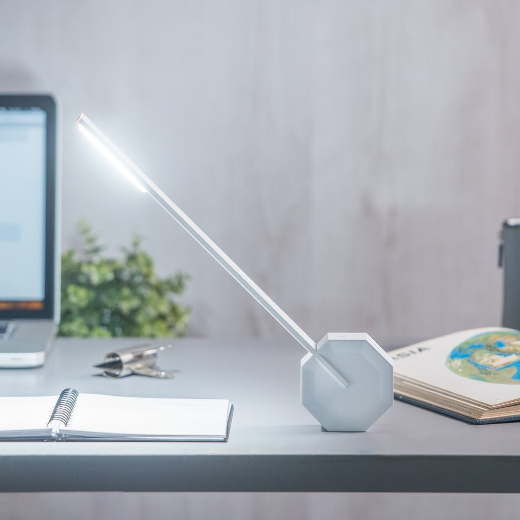 Gingko Design Octagon Desk Lamp White