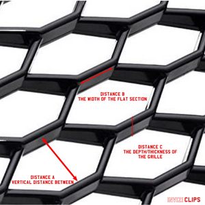 INVIZICLIPS FOR AUDI HONEYCOMB GRILLES (FILL IN DIMENSIONS)