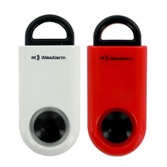 2 PACK iMaxAlarm SOS Alert Personal Alarm - 130dB Alarm - Safety & Security Emergency Device White Black Red Black