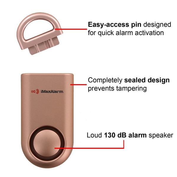 Portable Personal Security Alarm Matte Rose Gold