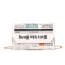 Load image into Gallery viewer, Newspaper Clutch - Pynk Kandi