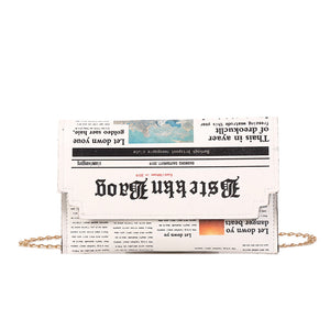 Newspaper Clutch - Pynk Kandi