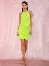 Load image into Gallery viewer, House of Cb neon green dress - Pynk Kandi