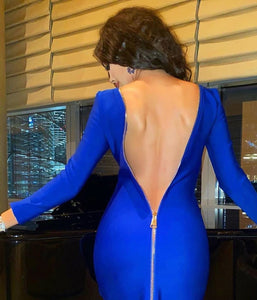 Backless zipper dress - Pynk Kandi
