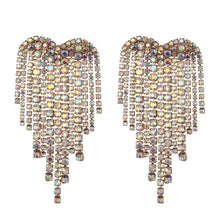 Load image into Gallery viewer, Rhinestone Heart Earrings - Pynk Kandi