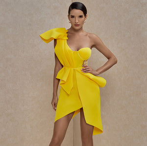 Yellow Party dress - Pynk Kandi