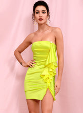 Load image into Gallery viewer, House of Cb neon yellow tube dress - Pynk Kandi