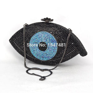 Crystal Evil Eye Clutch - Pynk Kandi