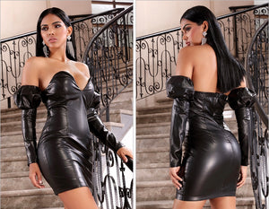 Fashion nova faux leather dress - Pynk Kandi