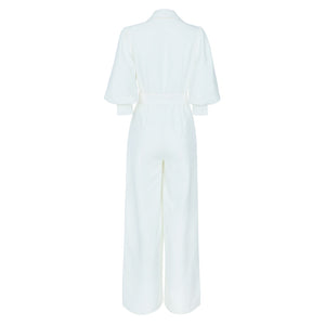 White fashion nova Jumpsuit - Pynk Kandi