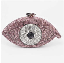 Load image into Gallery viewer, Crystal Evil Eye Clutch - Pynk Kandi