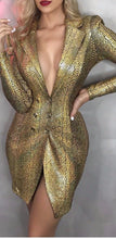 Load image into Gallery viewer, Glam Snakeskin Jacket Dress - Pynk Kandi