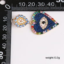 Load image into Gallery viewer, Evil Eye Heart Earrings - Pynk Kandi