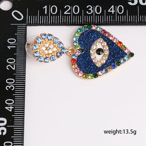 Evil Eye Heart Earrings - Pynk Kandi
